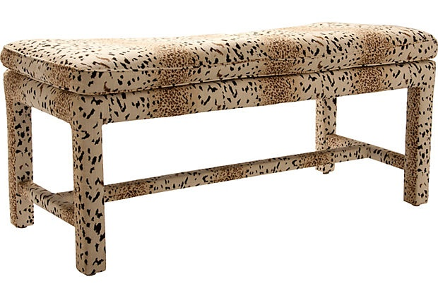 Animal print bench ii leopard pinterest products and Leopard print bench