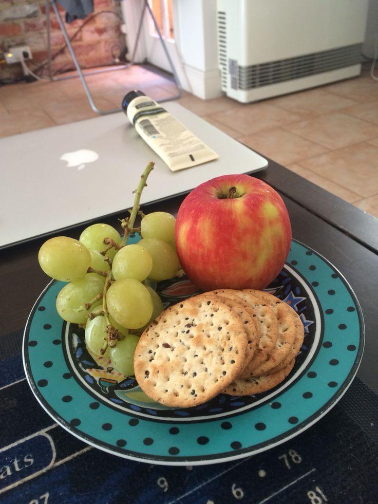 Light easy lunch. Fruit crackers