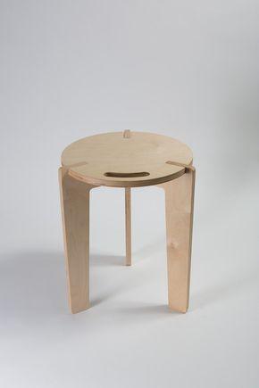 ALFA - Stool in finnish birch plywood/ Sgabello in multistrato marino di betulla