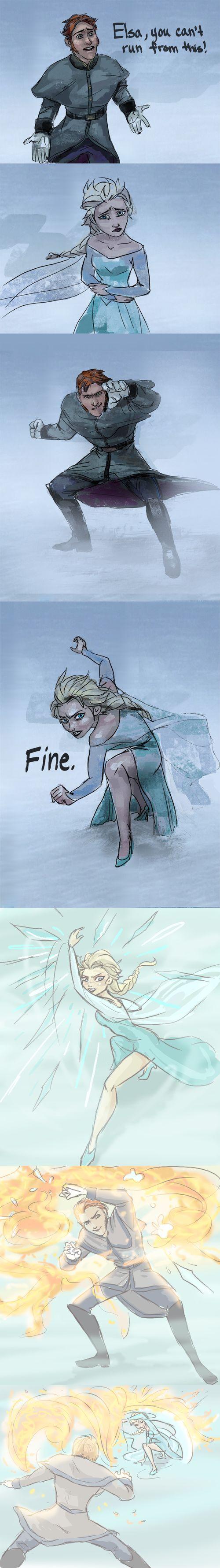 If Hans had fire power