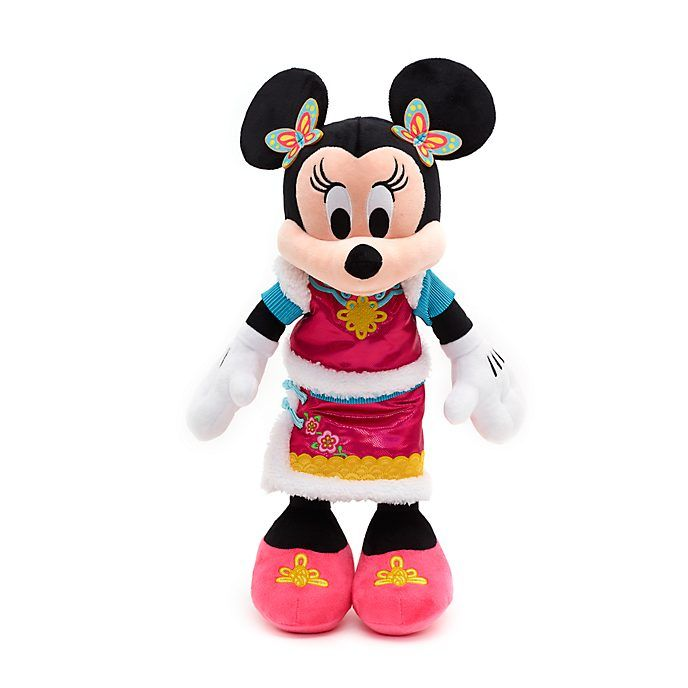 Disney Store Minnie Mouse Chinese New Year Medium Soft Toy In 2020 Minnie Mouse Minnie Disney Store