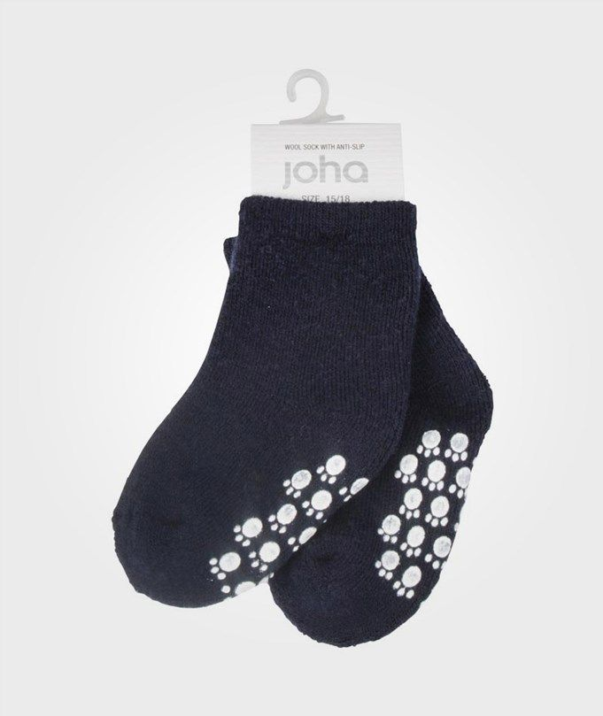 JOHA - Wool Sock Anti Slip Marine - str. 22-