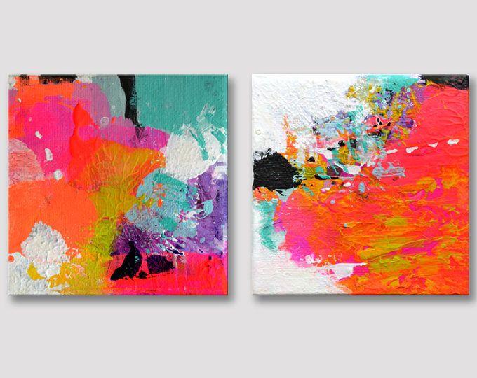Kleine abstracte schilderijen