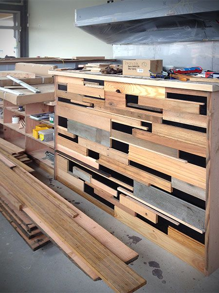 Recycled timber finish at 255 Lincoln Rd, Henderson, West AKL