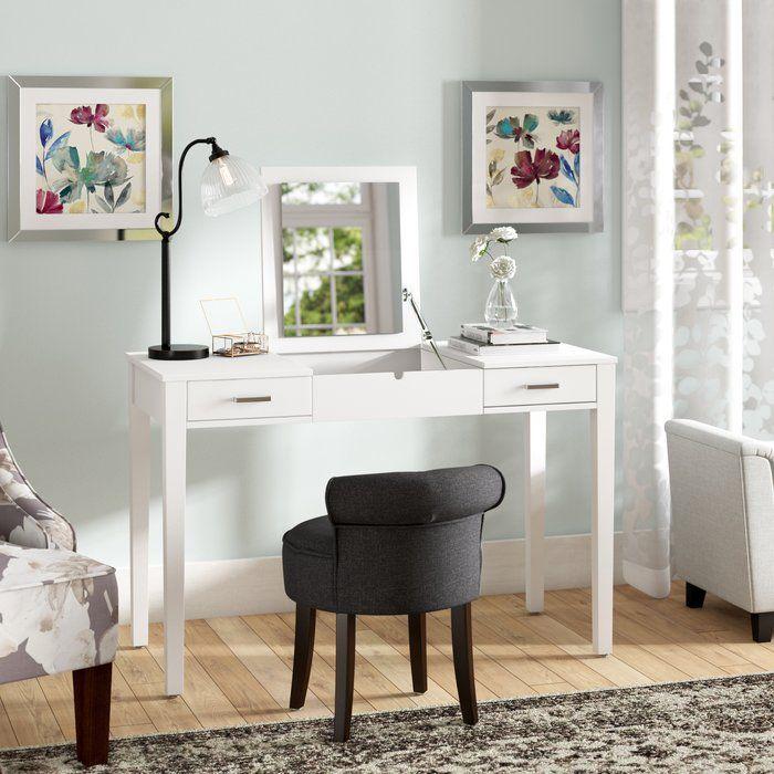 Hunedoara Vanity With Mirror Mirrored Vanity Desk Vanity Table