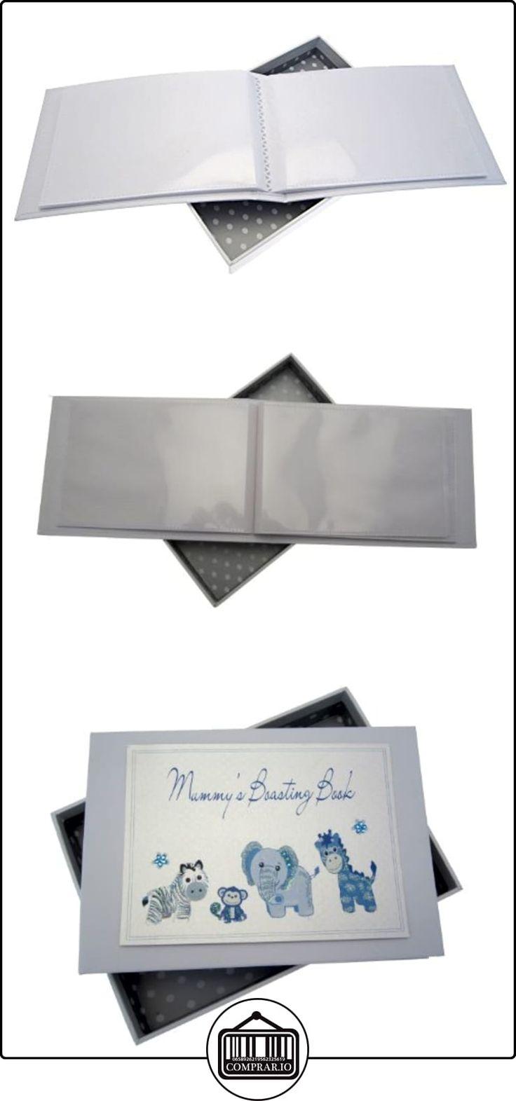 White Cotton Cards - Álbum de fotos de bebé (tamaño pequeño), color azul  ✿ Regalos para recién nacidos - Bebes ✿ ▬► Ver oferta: http://comprar.io/goto/B00DQSQDVI