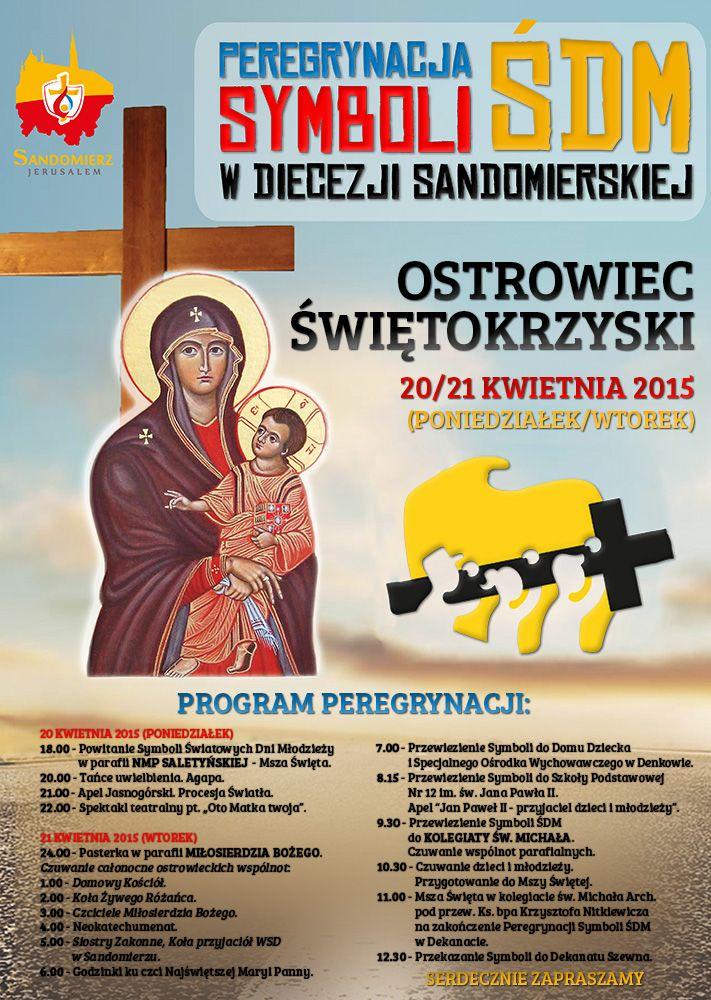 Symbole ŚDM w Ostrowcu Świętokrzyskim