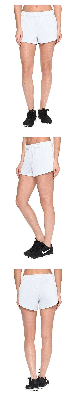 Nike Women's Dry Training Shorts Pure Platinum/Dk Grey/White #nike