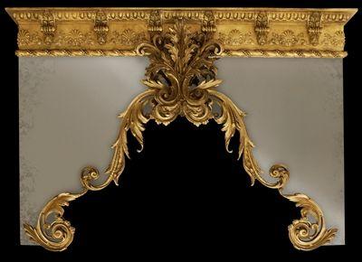 Custom Made Window Drapery Cornice With Gold Finish Any