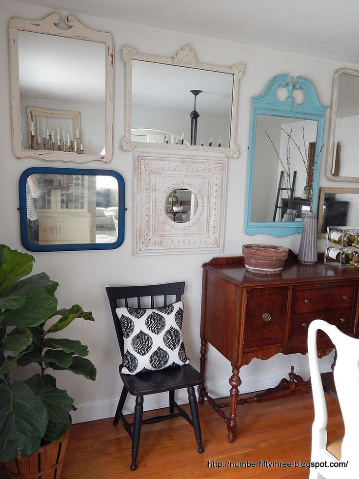 Vintage Mirror Gallery Wall