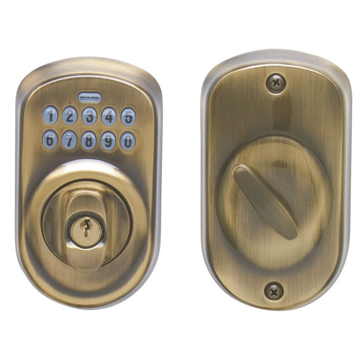 Schlage BE365VPLY609 Antique Plymouth Keypad Deadbolt