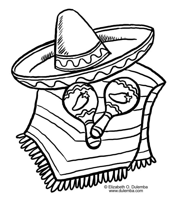 drawings of Cactus with Sombrero and maracas - Google Search | Cinco ...