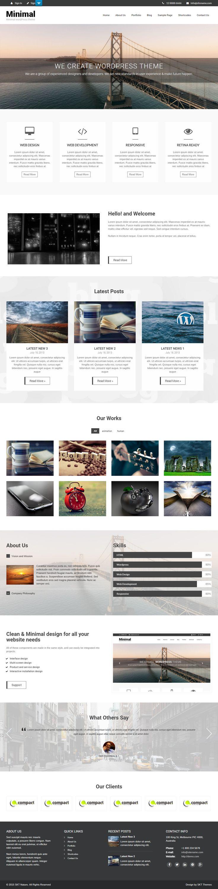 Free Minimalist WordPress Themes for Minimalist Style Websites