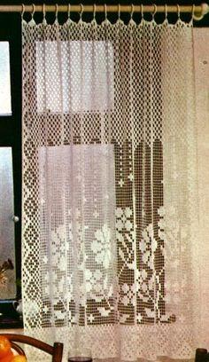 Professione Donna: Schemi per il filet: Tendine per la finestra