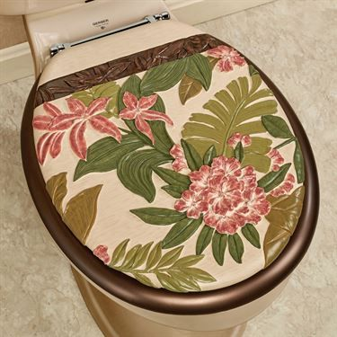 Tropical Haven Elongated Toilet Seat