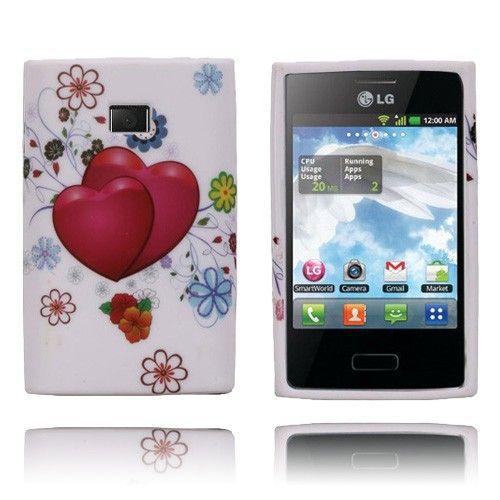 Symphony (Røde Hjerter) LG Optimus L3 Cover