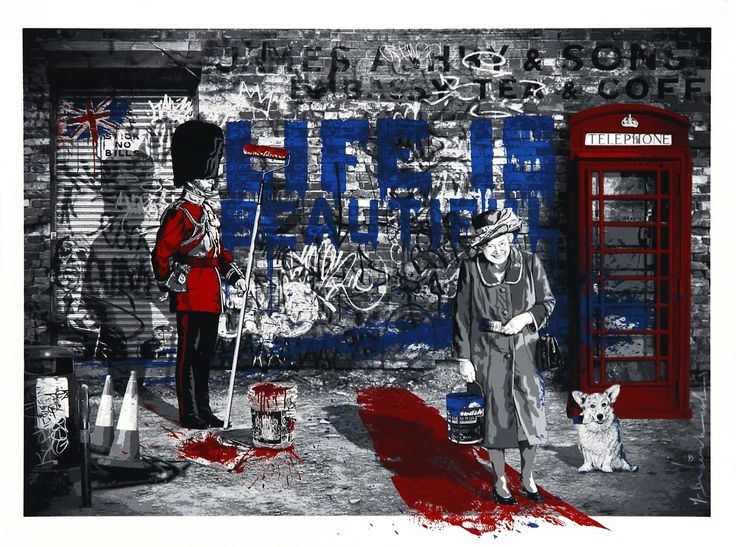 71 best mr brainwash by widewalls images on pinterest for Billie holiday life is beautiful mural