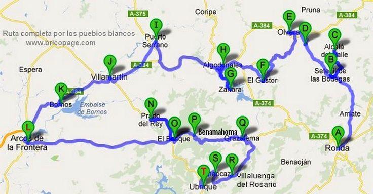 Ruta por los pueblos blancos buscar con google viajes - Ruta por andalucia ...