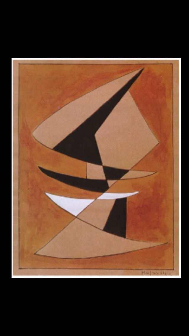 """Alberto Magnelli - """" Untilted """", 1964 - Watercolor and ink - 26,7 x 21 cm"""