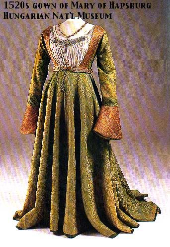 Mary of Hapsburg's Gown, 1520 or so