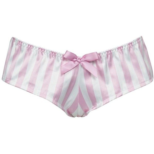Alexis Smith By Jessica Wright Pink Candy Stripe Short Briefs ($27) ❤ liked on Polyvore
