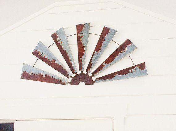 Half Windmill Decor Metal Wall Decor 47 Inch Rustic Wall Art