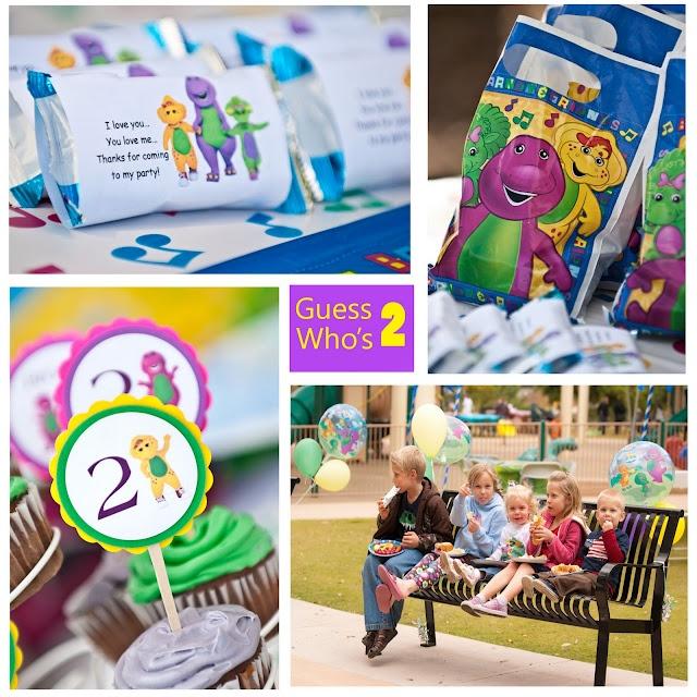 cute favor idea, Barney Party Favors, Barney & Friends party favors
