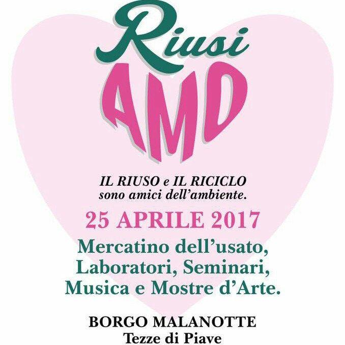 Sarò presente al mercatino RiusiAmo di Tezze di Piave - Borgo Malanotte. Vi aspetto!