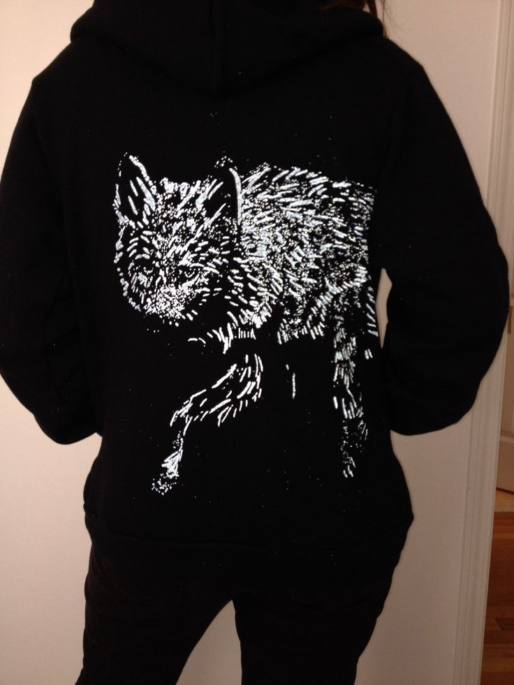 A personal favorite from my Etsy shop https://www.etsy.com/listing/258335764/coyote-wolf-reflective-silver-hoody