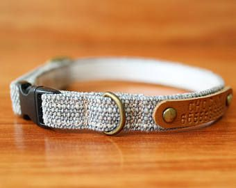 Rocky Grey Personalized Cat Collar, Chocky Cat Collar Personalized, Chocky Cat Collar Tag, Kitten Collar, Small Dog Collar, Cat Tag