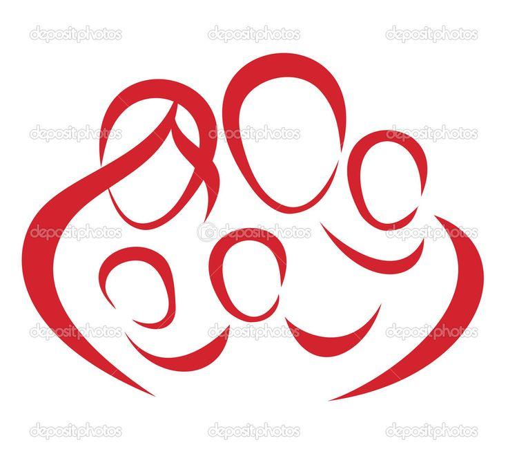 Family Symbols | Happy big family symbol