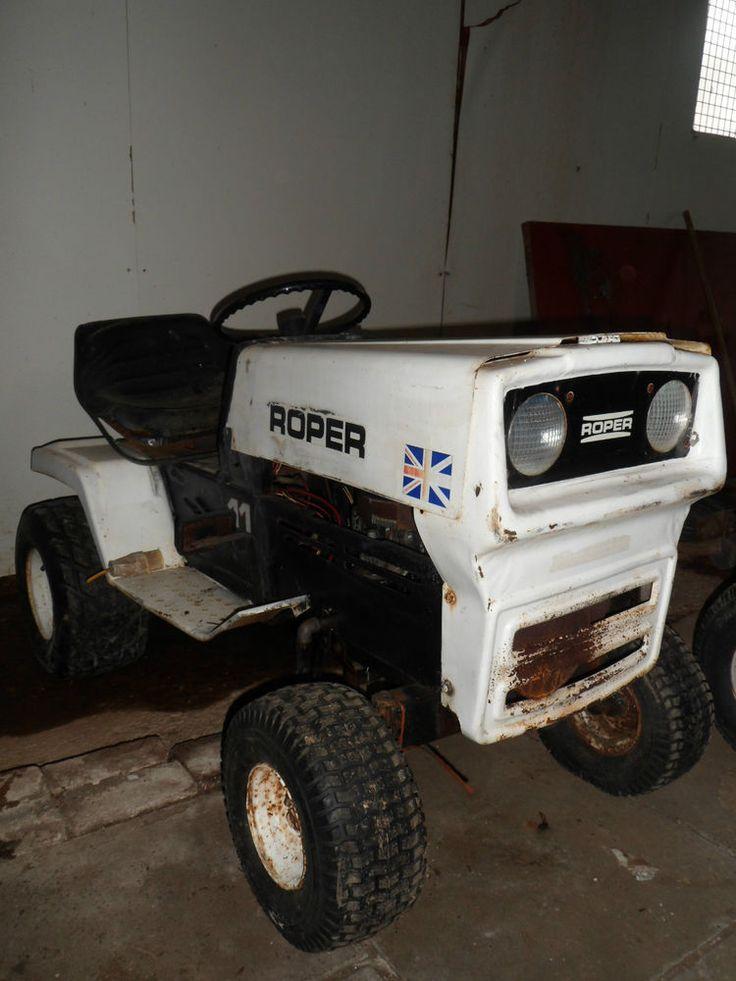 Roper Tractor Ride On 11hp 1970s Mower Barn Find Rare