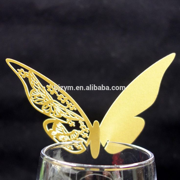 Check out this product on Alibaba.com APP 11 cm x 7 cm Butterfly yellow pearl paper sample birthday card design wine cup cards