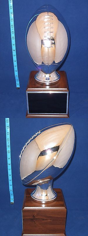 Other Football 2024: Fantasy Football Trophy Huge Silver- Free Engraving!! Ships In 1 Day!!! BUY IT NOW ONLY: $94.99