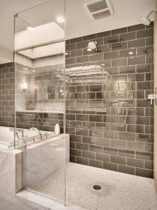 Like the narrow but wide shower-would extend the tub surround into shower as a bench