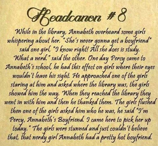 Percabeth Headcanons | Omggggggggggggg too cute!!!!! -Tabby