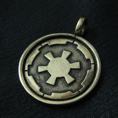 Bronze Galactic Empire pendant. Star Wars. Science Fiction. Darth Vader. #Pendant
