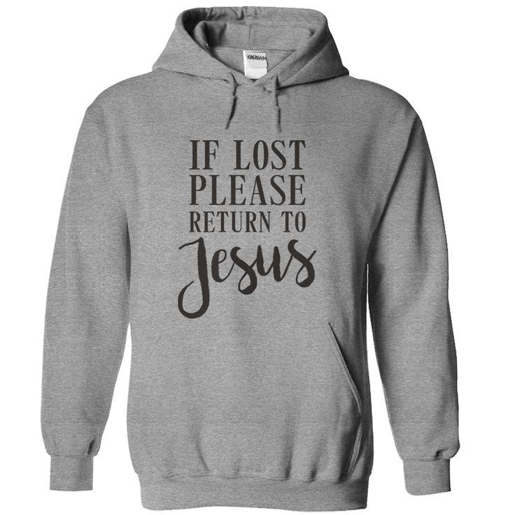 If Lost Please Return To Jesus T Shirt - awesomethreadz