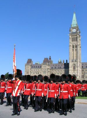 Changing of the Guard Ceremony Parliament Buildings Ottawa Canada