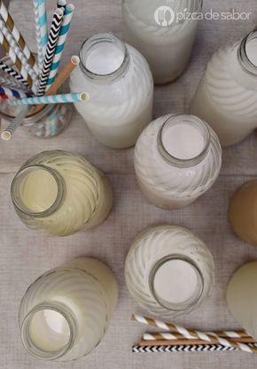 Cómo hacer leches vegetales (más de 30 leches vegetales – leche de almendra, arroz, avena, nuez, cashews - nuez de la India, linaza, chía y muchas más) www.pizcadesabor.com