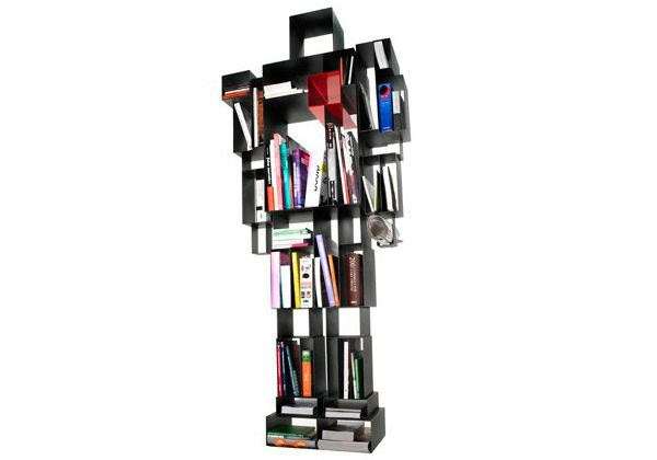 Robot Shaped Bookshelf - perfect storage for a little boys room!