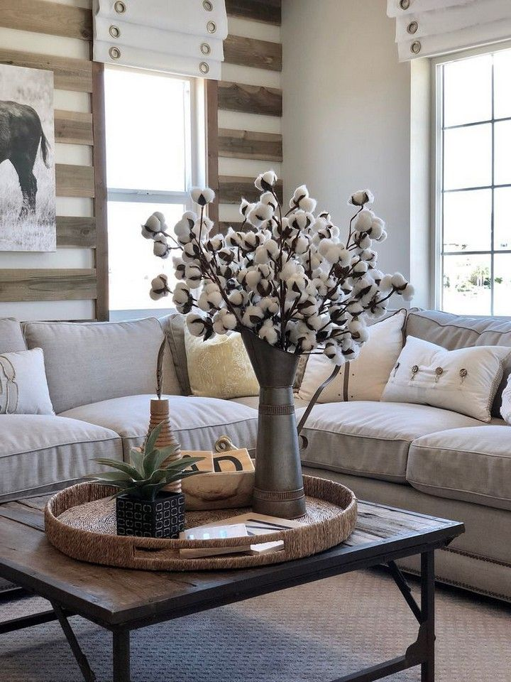 Best Farmhouse Flower Decoration Ideas To Buy In 2020 Http Decorholic Co 2019 11 Farm House Living Room Farmhouse Decor Living Room Home Floral Arrangements