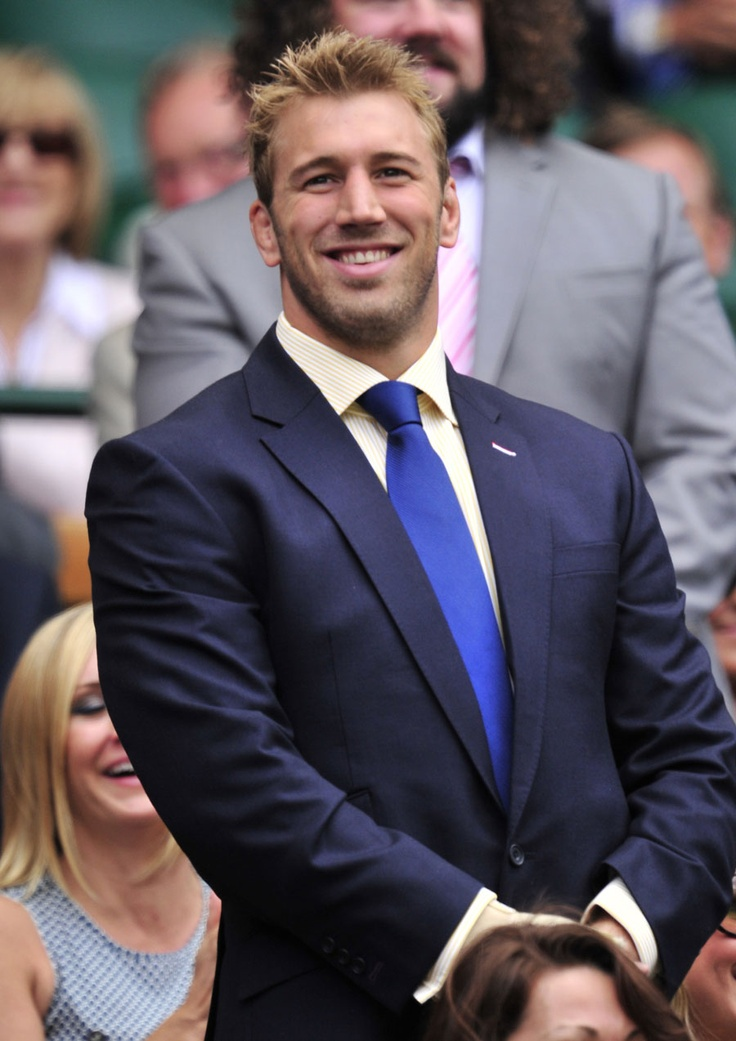 "Chris Robshaw, aka ""Robo,"" UK rugby, taking a bow at Wimbledon. One of the handsomest dudes on the planet."