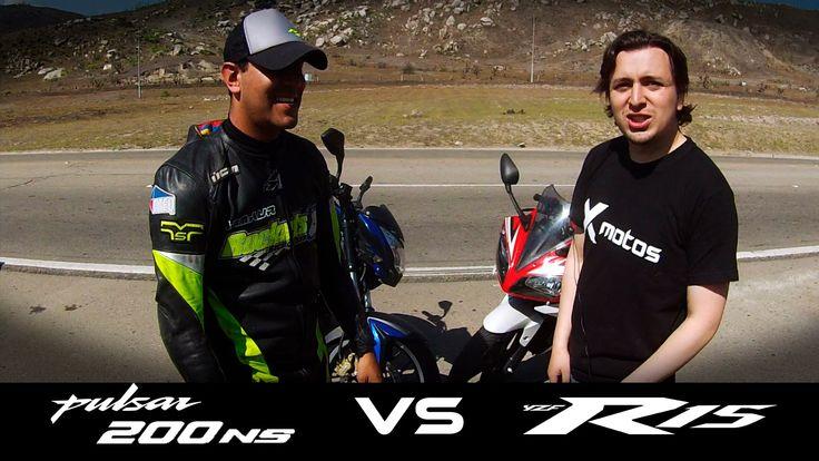 PULSAR NS VS YAMAHA R15 drag race HD / Xmotos