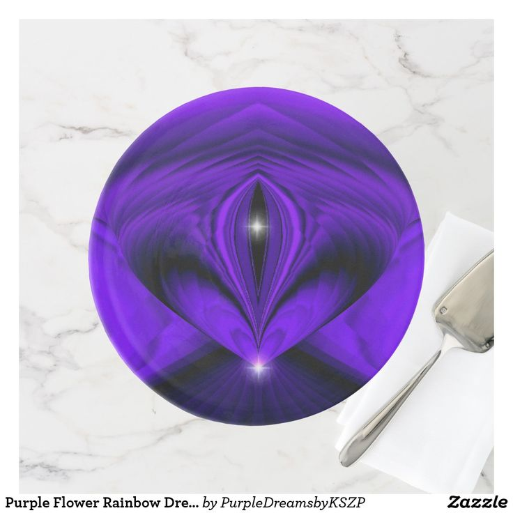 Two #Stars #Purple #Flower #Rainbow Dreams #Porcelain #Serving #Dinner #Round #Plate #Cake #Stand #New by Krisi ArtKSZP on #Zazzle