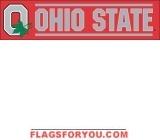 "Ohio State Buckeyes ""O"" Banner 8' x 2'"