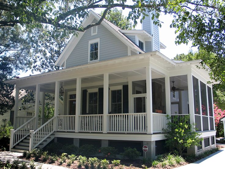 Sugarberry cottage with extended porch cottage ideas for Great room addition off kitchen