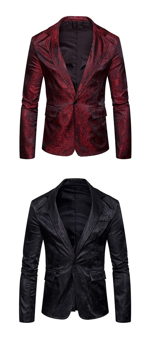 Men's Daily Work Casual Chinoiserie Spring Fall Blazer