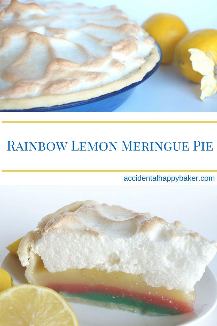 Accidental Cream Pie Top rainbow lemon meringue pie | recipe | lemon meringue pie, meringue