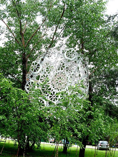 Giant Doilies by Jennifer Cecere.